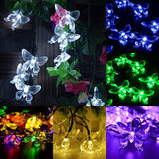 Christmas Lights Solar Powered by Butterfly Christmas Solar Led String Lights Party Festival Garden