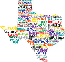 Map Of Austin Tx Texas Digital Illustration Print Of Texas State Cute For A Map