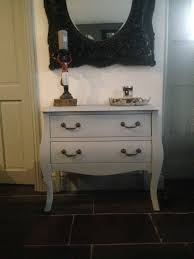 grey bombe chest of drawers shabby chic french country louis
