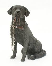 sitting black labrador ornament from the walkies range of