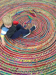 chindi rug indian floor rug round large recycled mats