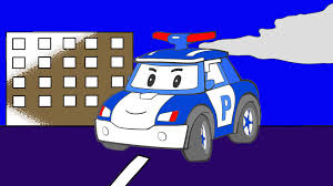 les couleurs robocar poli l u0027hélicoptère la voiture de police