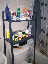 Bathroom Storage Above Toilet by Lerberg Shelf Into Storage Over Toilet Unit Ikea Hackers Ikea