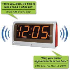voice controlled voice reminder alarm clock