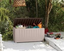 novel 90 gallon outdoor storage box beige brown keter target