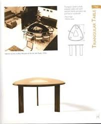 we love this triangular dining table visit our website for more