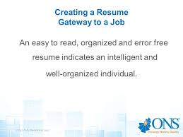 Creating A Job Resume by Resume Writing Workshop Creating A Winning Resume Ppt Video