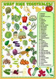 what nice vegetables matching english worksheets pinterest