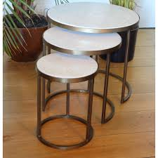 white nest of tables white marble nesting coffee tables by madam stoltz set of three