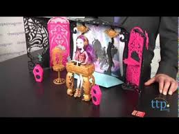 monster high table and chair set monster high 13 wishes party lounge from mattel youtube