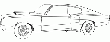 Dodge Challenger Drawing - dodge challenger coloring pages coloring home
