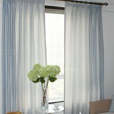 White And Blue Striped Curtains Blue And White Plaid Panel Curtains Uk For Living Room