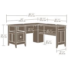 L Shaped Desk Dimensions Sauder August Hill L Shaped Desk 412320