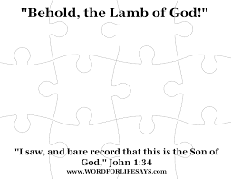 behold the lamb of god u201d sunday lesson john 1 29 34 march