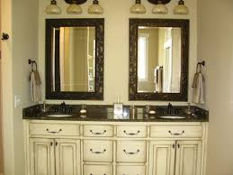 bathroom nice cabinet for furniture idea cuts ivory wooden bathroom cabinet with brown granite top and double sinks for furniture idea