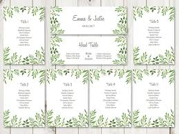 wedding seat chart template watercolor chart template passionative co