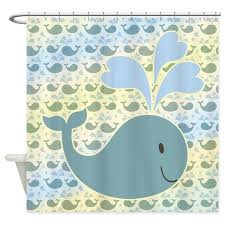 Childrens Shower Curtains Whale With Pattern Shower Curtain By Ironydesign
