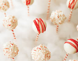 fun holiday treat candy cane cake pops hostess with the mostess