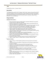 Resume Templates For Administration Job by Administrator Job Description Foundation Administrator Job