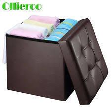 Ottomans Ebay Faux Leather Modern Storage Ottomans Ebay