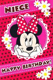 niece birthday cards disney minnie mouse niece birthday card cardspark