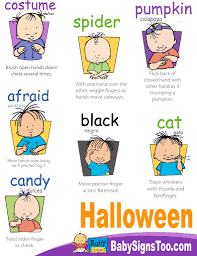 Halloween Boo Poems Printables Halloween Sign Language Printables U2013 Festival Collections