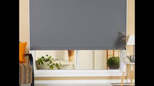how to install roller blind outside mount youtube