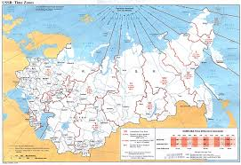 Time Change Map Russia And The Former Soviet Republics Maps Perry Castañeda Map