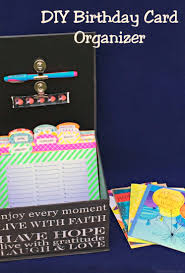 hallmark greeting cards diy birthday card organizer image jpg