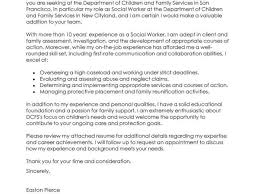 child protection worker cover letter