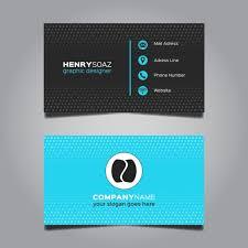 Bisness Card Design Modern Blue Business Card Design Vector Free Download