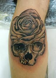 skull black rose tattoo tattoomagz