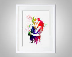 watercolor art print kissing couple modern 8x10 wall art decor