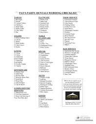 wedding supply rentals wedding reception decorations checklist reception checklist