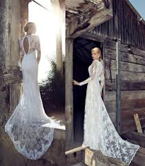 long sleeve lace wedding gown with train tbrb info