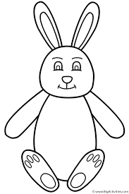 easter bunny sitting coloring page easter