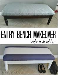 Diy Reupholster Ottoman by Diy Reupholstered Bench
