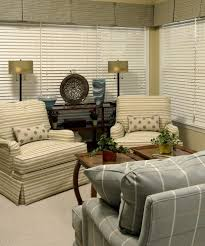 florida room furniture living room traditional with blinds plaid