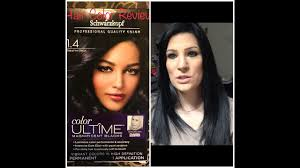 saphire black hair schwarzkopf sapphire black hair color review nina gilhousen