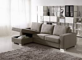 Grey Sectional Sleeper Sofa L Shaped Gray Microfiber Sectional Sleeper Sofa With Chaise Lounge