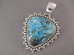 blue turquoise pendant necklace images Blue diamond turquoise pendant by artie yellowhorse turquoise jpg
