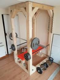 homemade diy power rack diy fitness equipment pinterest diy