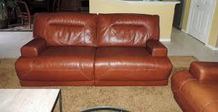 Ricardo Cognac Leather Dual Power Reclining SofaTWO AVAILABLEWE - Ricardo leather reclining sofa