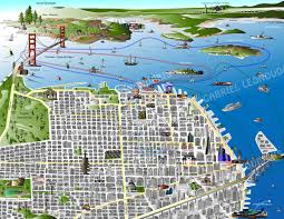 San Gabriel Map San Francisco Map Gabriel Leonoudakis San Francisco Illustrator