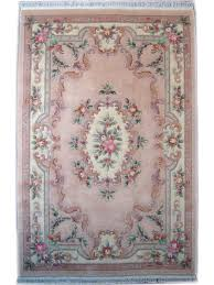 Chinese Aubusson Rugs Kangshi Aubusson Beige Rosé Chinese Carpets N 1357 350x250cm