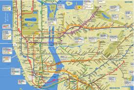 New York Manhattan Map Subway Map New York Ny Travel Maps And Major Tourist Attractions