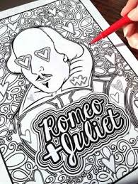 romeo u0026 juliet shakespeare coloring pages shakespeare english