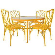 Bamboo Patio Set by Faux Bamboo Patio Set With Table And Four Chairs By Venemen For