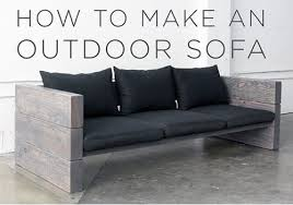 Outdoor Wood Sofa Plans Diy Wooden Outdoor Sofa