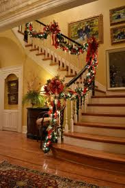 Banister Garland Ideas Baby Nursery Pleasing Ideas About Christmas Stairs Decorations